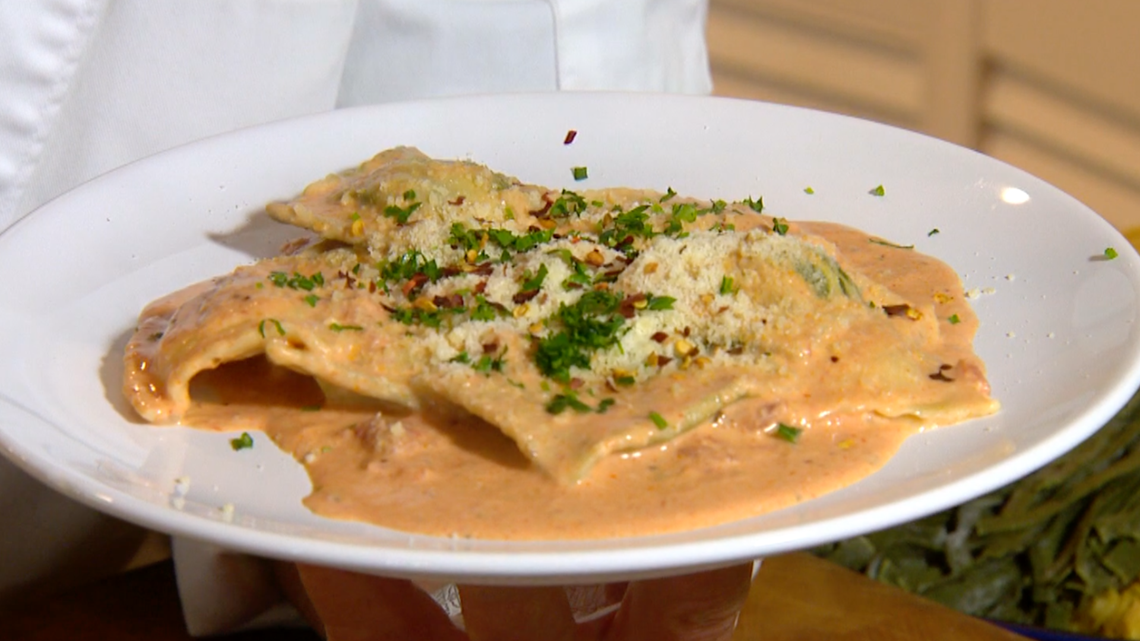 Cooking with Styles: Ravioli in a cream rossa sauce