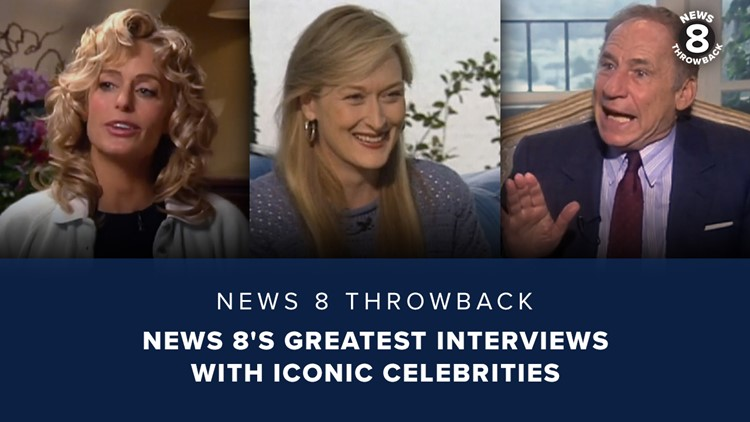 News 8 Throwback: News 8's greatest interviews with iconic celebrities