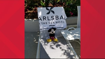 Lost Mickey Mouse has his own vacation at Carlsbad hotel