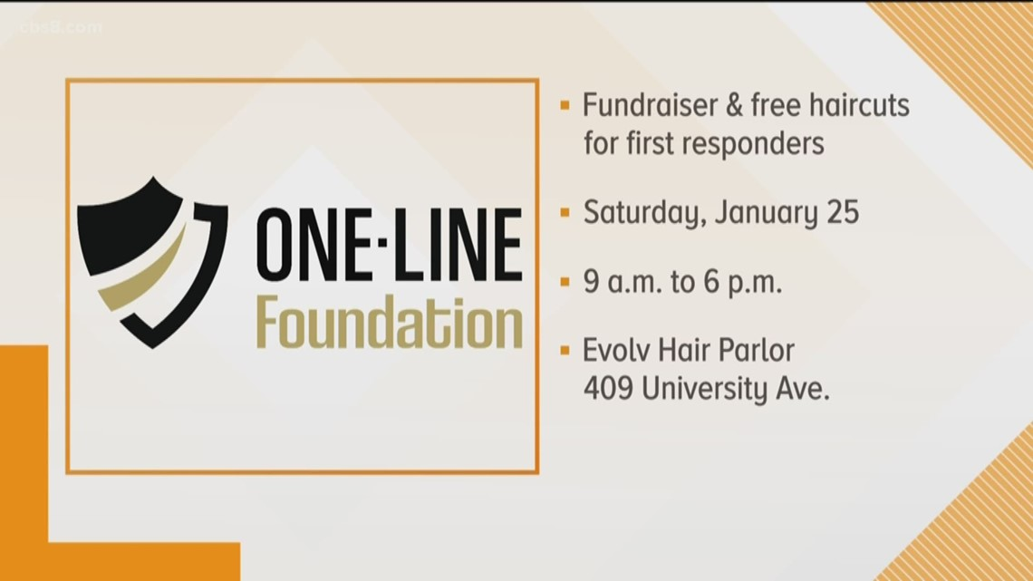 One Line Foundation: Fundraiser and free haircuts for first responders
