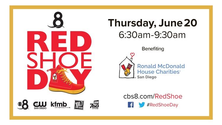 Join News 8 for Red Shoe Day on Thursday, June 20