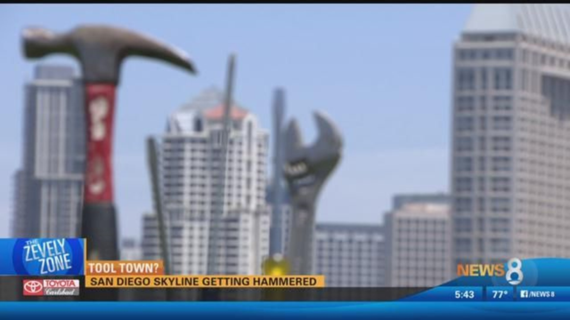 Tool Town San Diego Skyline Getting Hammered Cbs8 Com