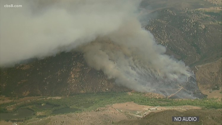 Mesa Fire: Blaze in Pala Mesa area 40% contained, holding at 350 acres
