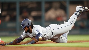 Reyes' 2 homers, 3 RBIs lead Padres past Braves 4-3
