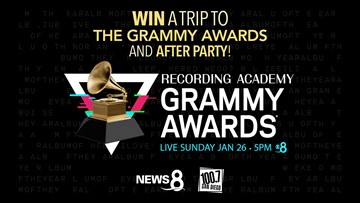 Win a trip to The Grammy Awards and after party from News 8!