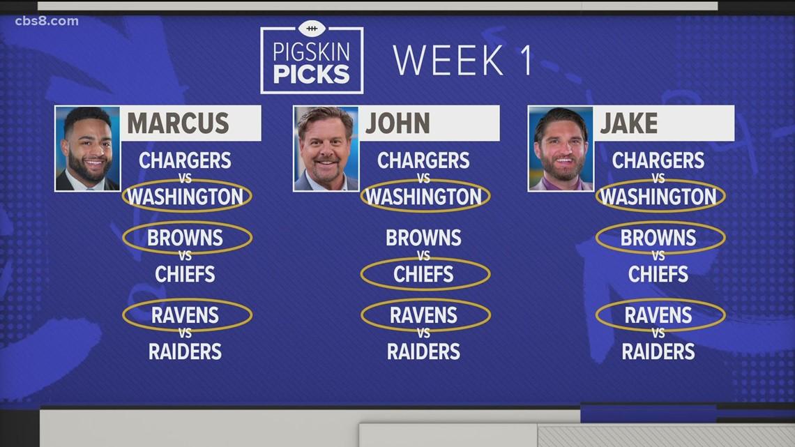 CBS 8 sports anchors share their Pigskin Picks for Week 1