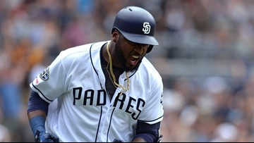 Reyes' 3-run homer lifts Padres to 8-7 win vs Brewers