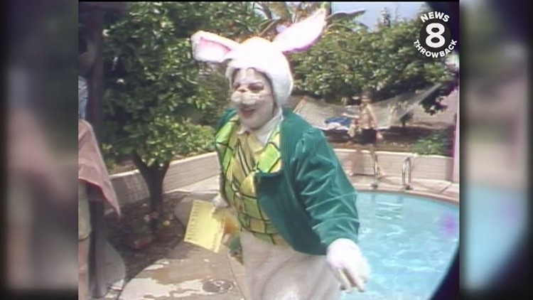 The Easter Bunny serenades a San Diego family with a special song in 1979