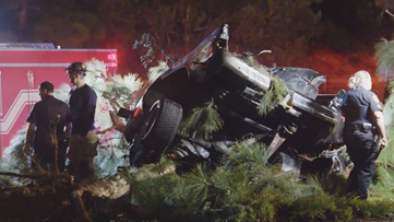 Driver loses control of truck and hits tree leaving three dead