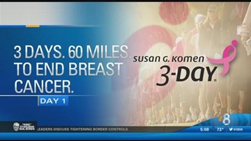 Day 1: The Komen 3-Day Walk is underway