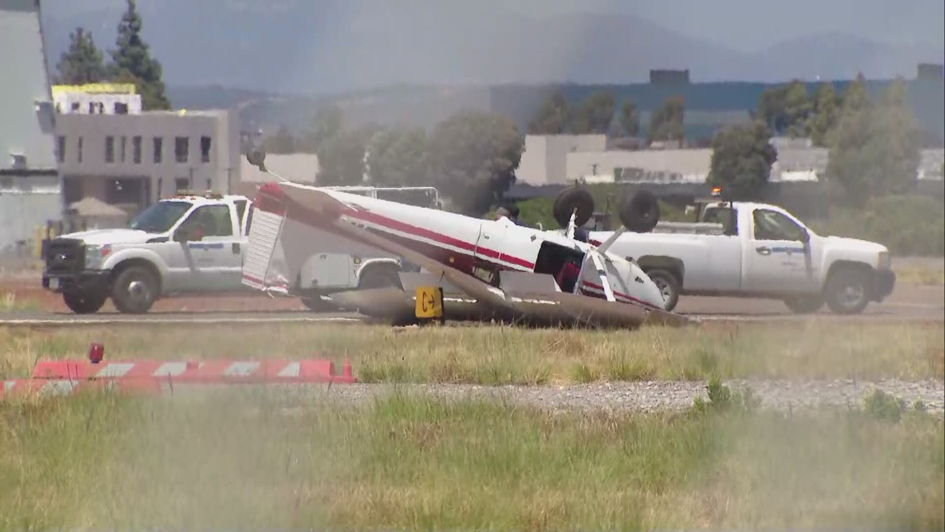 Plane Crashes At Montgomery Field No Injuries Reported Cbs8 Com