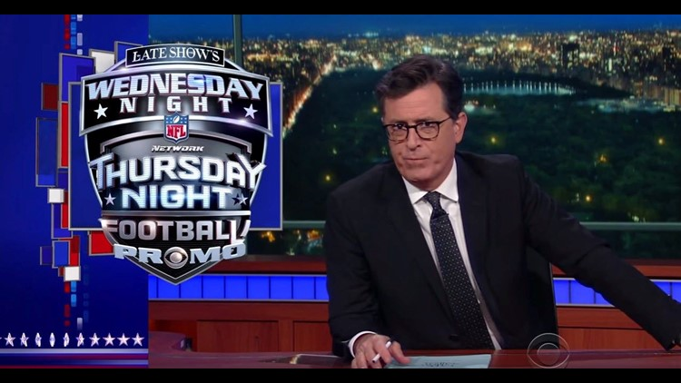 Late Show's Wednesday Night Thursday Night Football Promo | cbs8.com