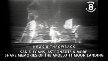 News 8 Throwback: San Diegans, astronauts and more share memories of the Apollo 11 moon landing