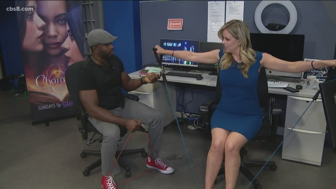Workplace workout with celebrity fitness trainer, Donovan Green