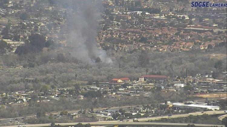 Suspicious brush fire in Santee under investigation