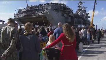 'You can't explain it': San Diego sailors, Marines reunite with family just in time for holidays