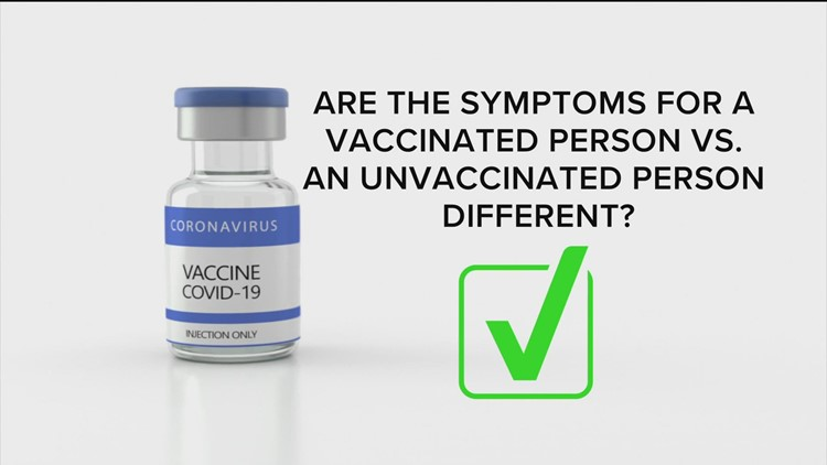 How different are COVID-19 symptoms for vaccinated people versus unvaccinated people?