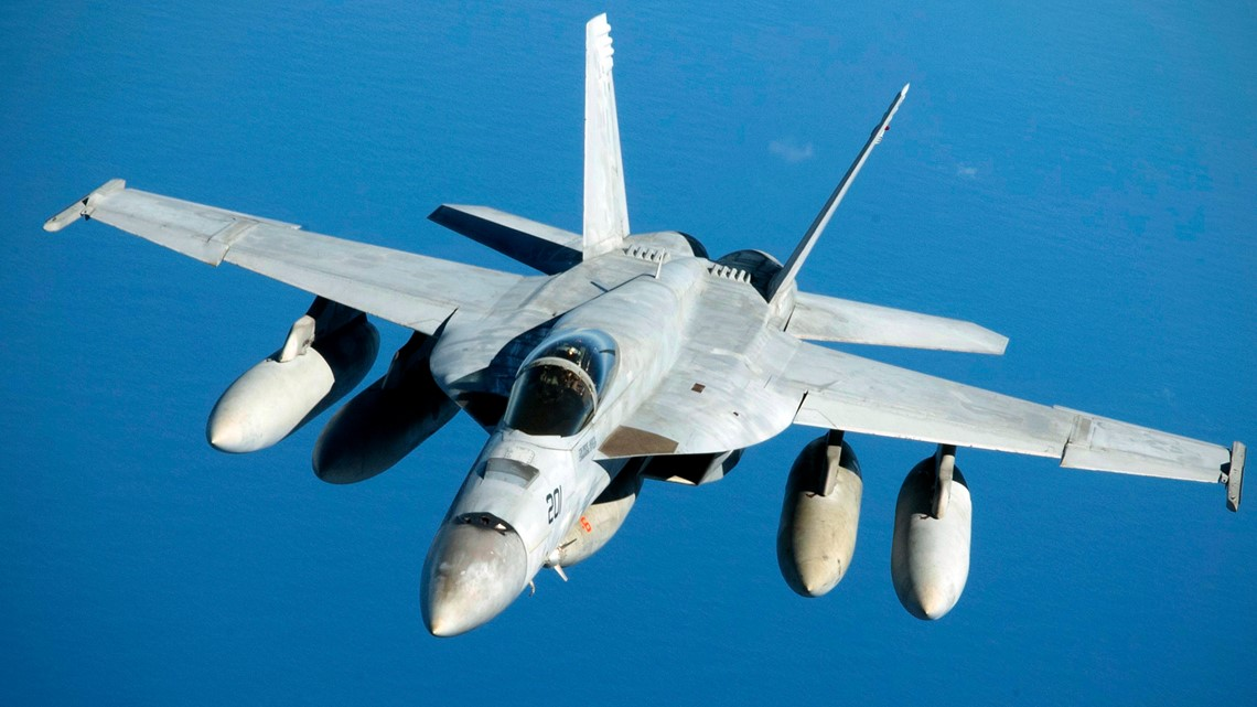 Search on for pilot after Navy jet crashes in Death Valley