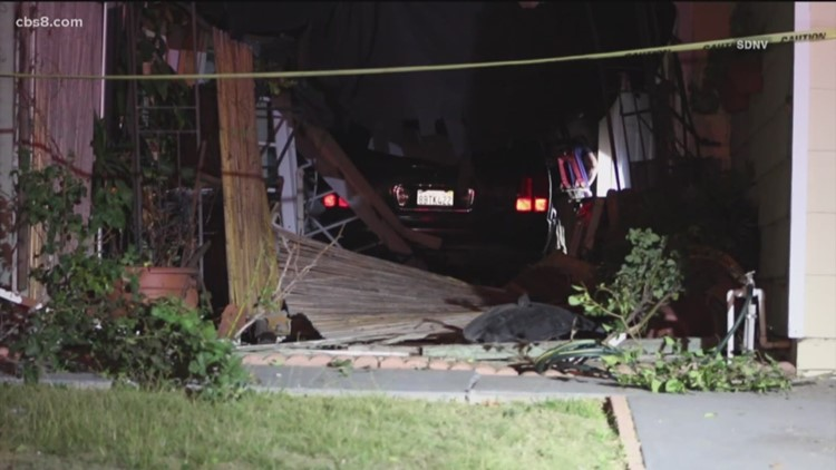 Woman arrested on suspicion of DUI hits hydrant, lands in living room of Otay Mesa West home