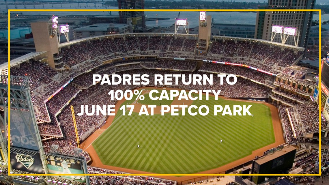 Petco Park set to return to 100% capacity for Padres games June 17