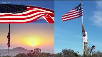 Vista man honors veterans with stars from decommissioned American flags