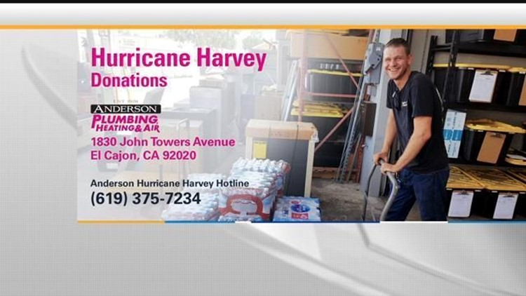 Anderson Plumbing Accepting Harvey Donations Ahead Of Trip To