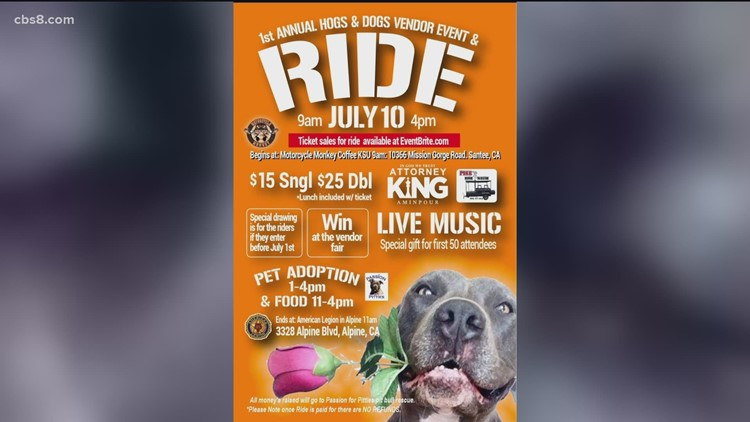 Passion for Pitties holding 'Hogs and Dogs' fundraising and adoption event