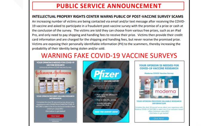 FBI warns public about a post-vaccine survey scam