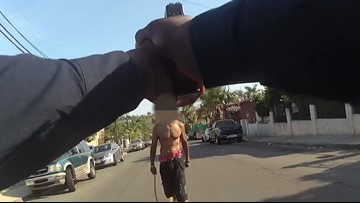DA releases August 2018 bodycam video of San Diego police officer shooting, killing man armed with chain