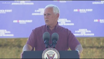 Vice President Mike Pence visits two San Diego Navy bases