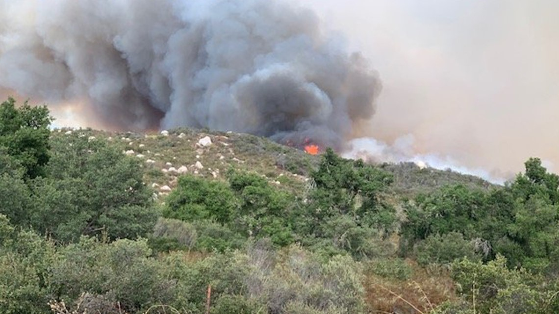 Gas Prices San Diego >> WATCH LIVE: Crews battling 150-acre brush fire near ...