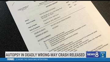 Autopsy report says deadly I-805 wrong way crash was