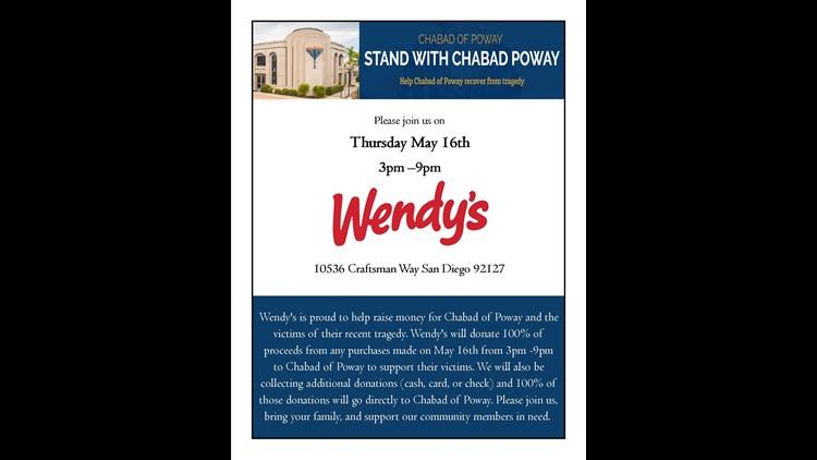Wendy's fundraiser