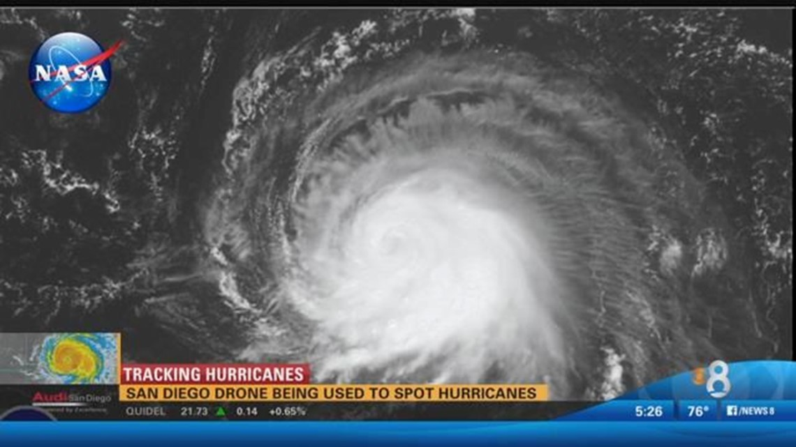San Diego drone used to spot hurricanes