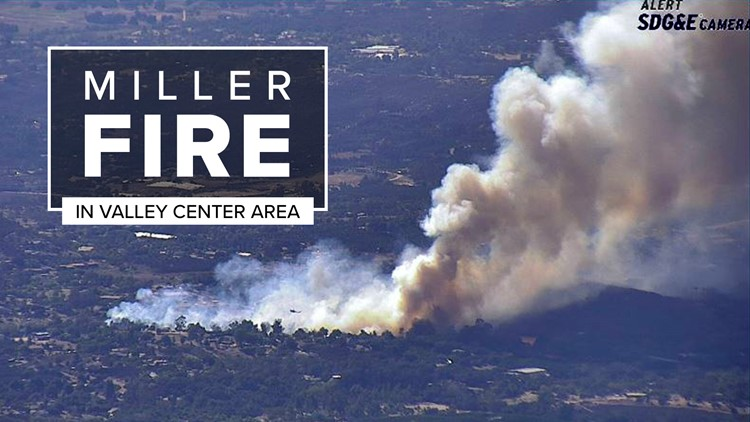 Miller Fire in Valley Center 100% contained | Evacuation orders lifted