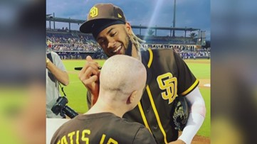 Cancer patient asks Padres player to autograph her head, starts movement to help others