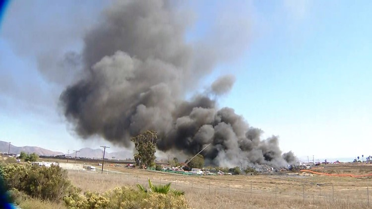 Nearly 200 vehicles destroyed in fire at Otay Mesa wrecking yard