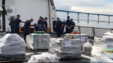 Coast Guard brings 7 tons of seized cocaine to San Diego