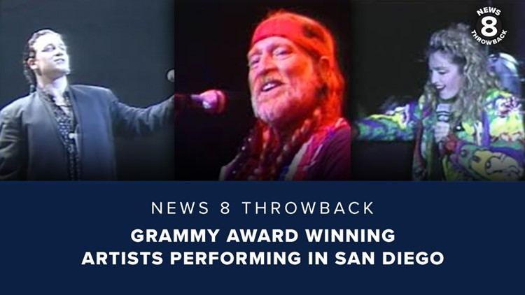 News 8 Throwback: Grammy Award winning artists performing in San Diego