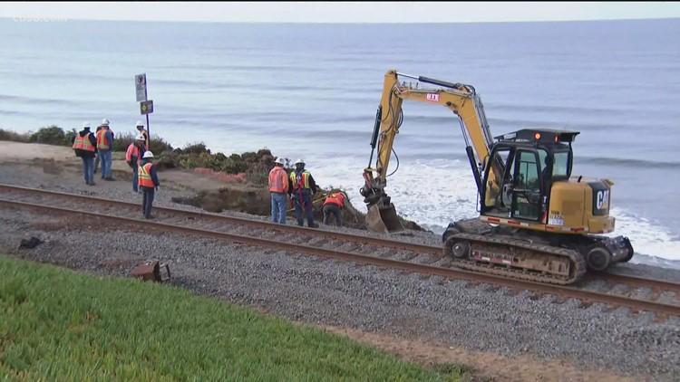 Metrolink, Amtrak suspend service to Oceanside station for track work due to erosion