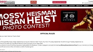 Mossy Heisman Nissan Heist Photo Contest