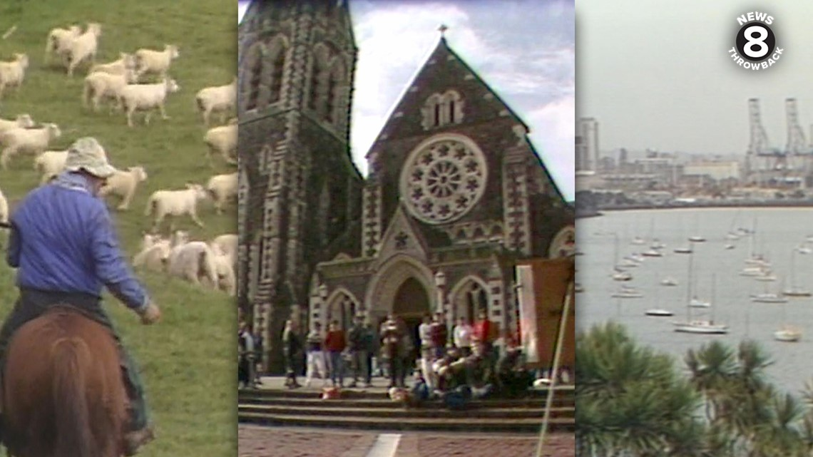 News 8 Throwback: San Diego news crew gets tough assignment of going to New Zealand in 1987