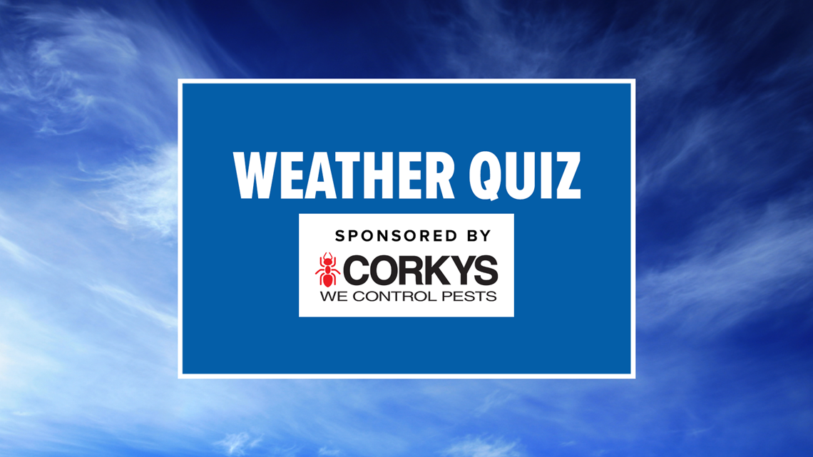 News 8's Weather Quiz Contest