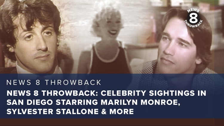 News 8 Throwback: Celebrity sightings in San Diego starring Marilyn Monroe, Sylvester Stallone and more