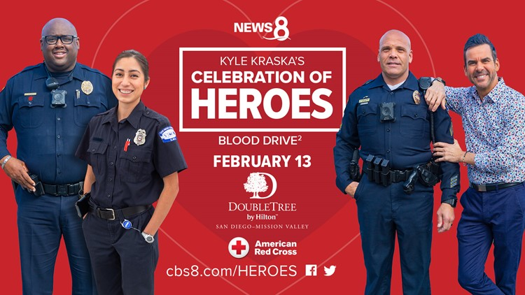 Be part of the 2nd-annual Celebration of Heroes Blood Drive on Feb. 13, 2020