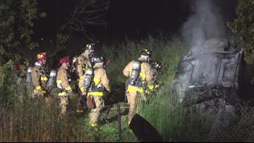 One person killed in fiery rollover crash in Grantville