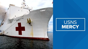 USNS Mercy departs from Naval Station San Diego to help fight coronavirus