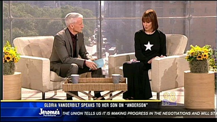 Gloria Vanderbilt speaks to her son on
