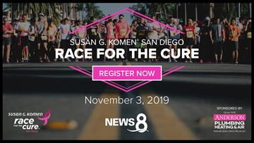 Register for the 2019 Susan G. Komen Race for the Cure 5k or 1 mile on Nov. 3