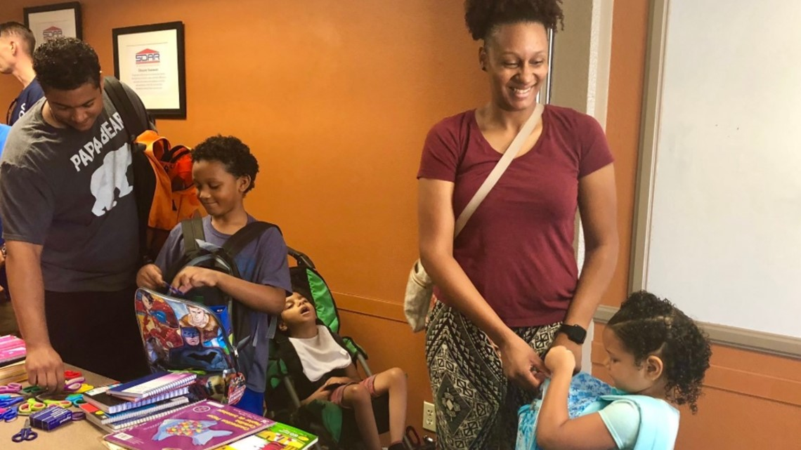 Operation Homefront gives military kids backpacks